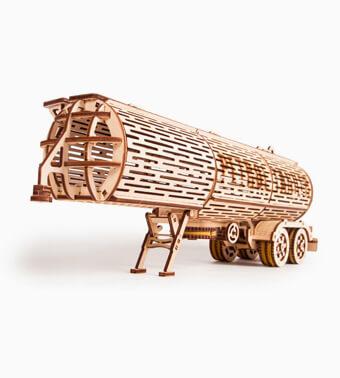 Деревянный конструктор «Прицеп — бензовоз (для Тягача Big Rig)»