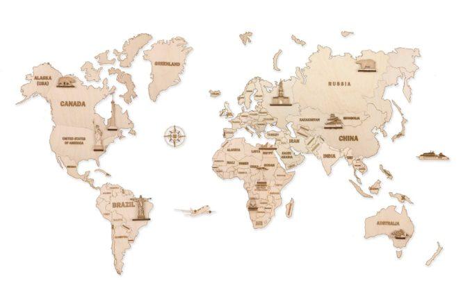 "Koka konstruktors ""Pasaules karte L"""