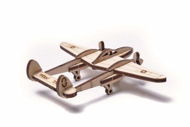 Деревянный конструктор «Вудик — Молниеносный самолёт»