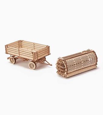 Деревянный конструктор «Прицеп для трактора»