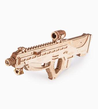 """Koka konstruktors """"Uzbrukuma šautene USG-2″"""