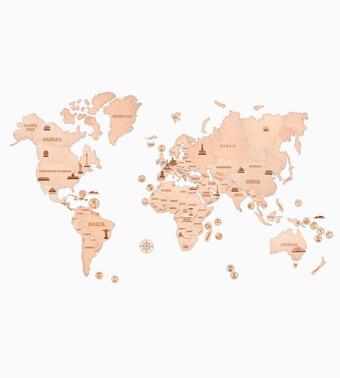 Деревянный конструктор «Карта мира XXL»
