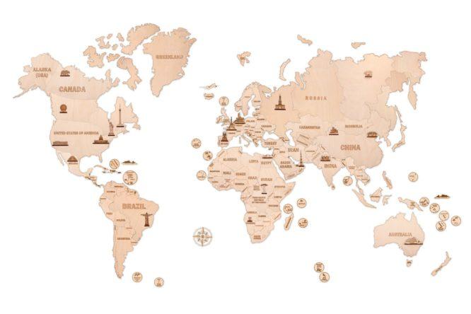 """Koka konstruktors """"Pasaules karte XXL"""""""