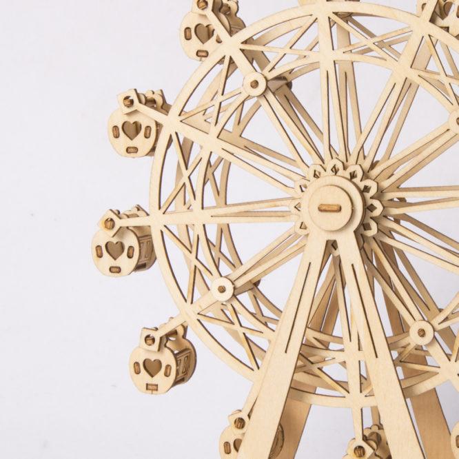 Деревянный 3Д пазл «Колесо обозрения»