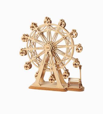 """3D koka puzle """"Panorāmas rats"""""""