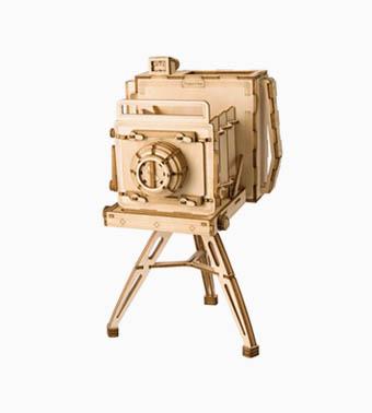 """3D koka puzle """"Vintažas kamera"""""""