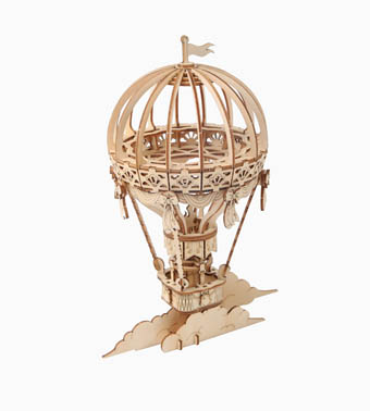 Деревянный 3Д пазл «Воздушный шар»