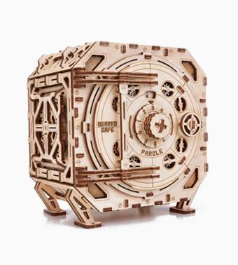 Деревянный конструктор «Механический сейф»