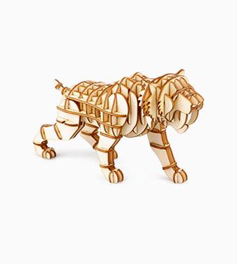 "3D koka puzle ""Tīģeris"""