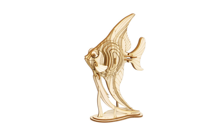 """3D koka puzle """"Eņģeļu zivs"""""""