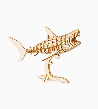 """3D koka puzle """"Haizivs"""""""