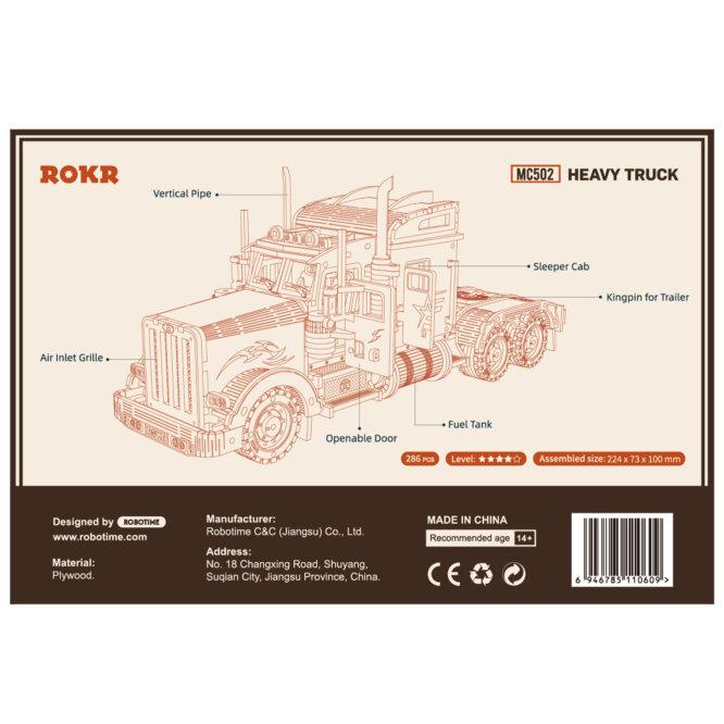 """Koka konstruktors """"Smagā automašīna ROKR"""""""